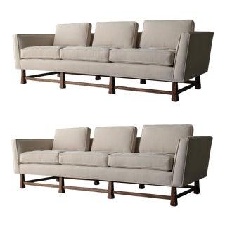 Minimalist Mid Century Sofas - a Pair For Sale