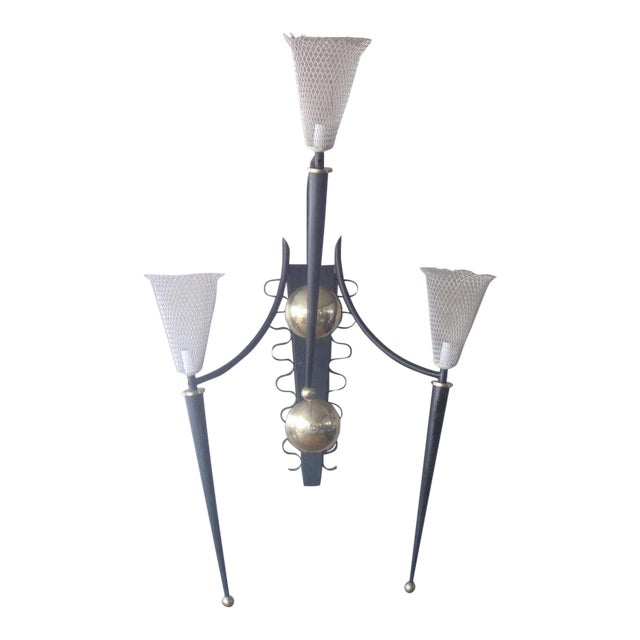 P. Marchand Monumental New York Theater Sconce In The Style Of Mategot For Sale