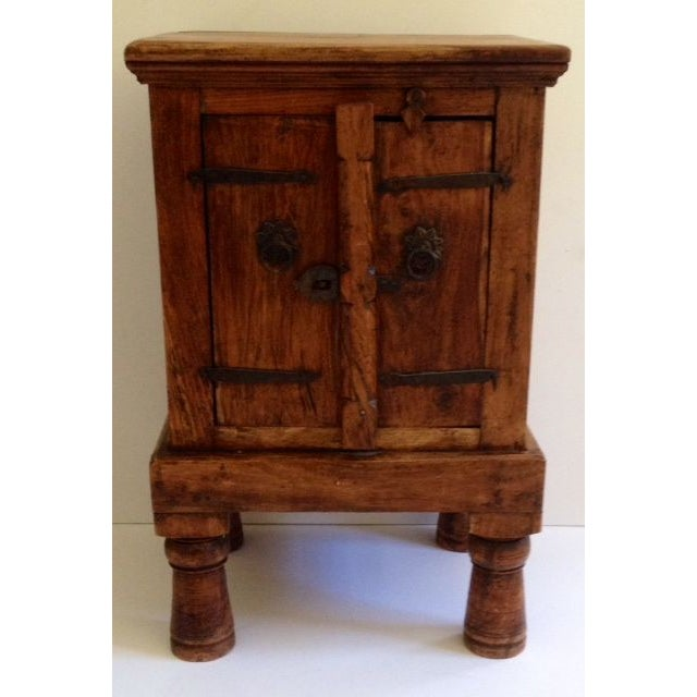 Antique Indian Teak Wood Storage Table - Image 2 of 4