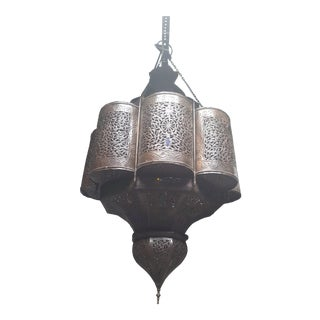 Late 20th Century Moroccan Handcrafted Mamounia Pendant Light Fixture For Sale