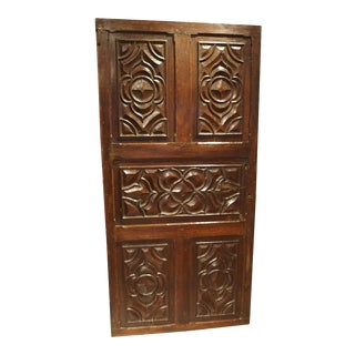 17th Century Carved Walnut Door from the Languedoc Region of France For Sale