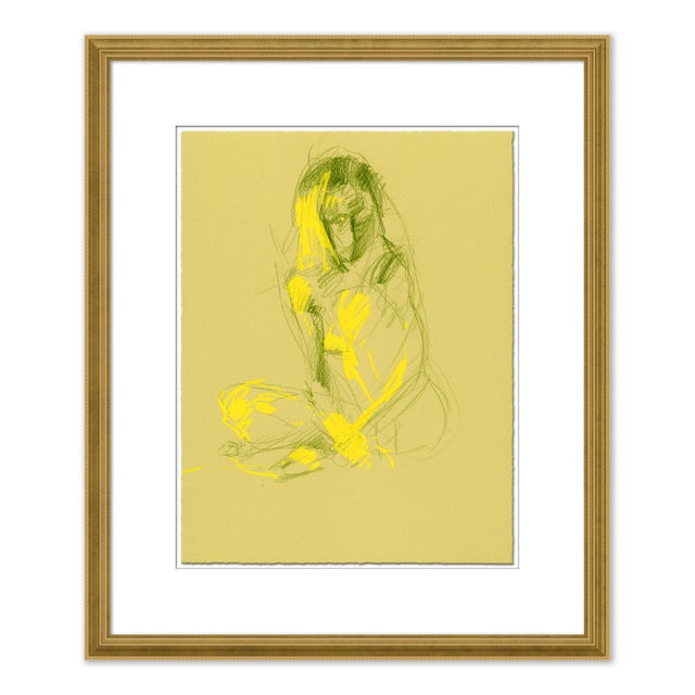 Figurative Figures, Set of 4 by David Orrin Smith in Gold Frame, XS Art Print For Sale - Image 3 of 11