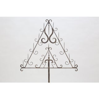 Italian Eleven-Prong, Wrought Iron Standing Candelabra Preview