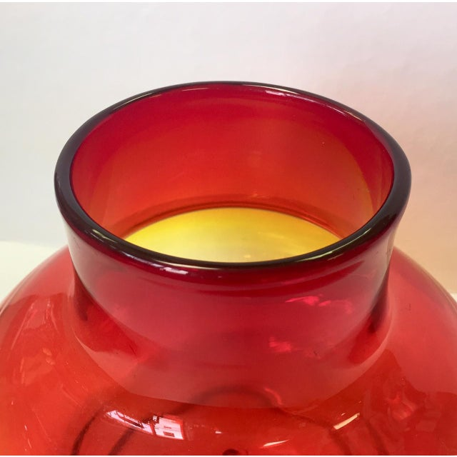 Glass 1970s Vintage Blenko Americana Obré Glass Vase For Sale - Image 7 of 9