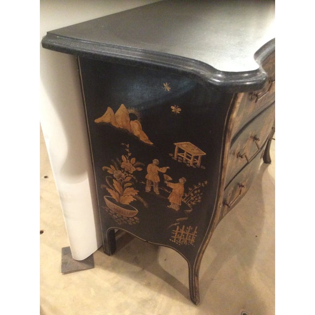 Chinoiserie Marble Top Chest For Sale - Image 4 of 7