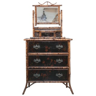 Superb 19th Century, English Bamboo Cottage Dresser For Sale
