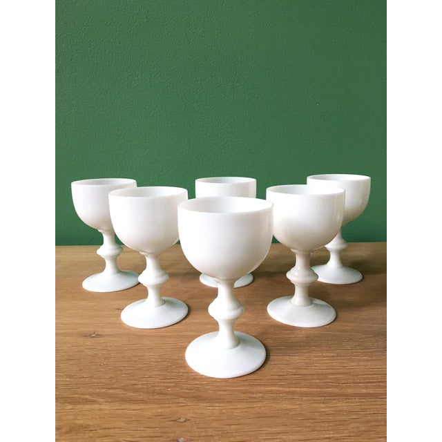 Glass French Portieux Vallerysthal White Wine Glasses - Set of 6 For Sale - Image 7 of 7
