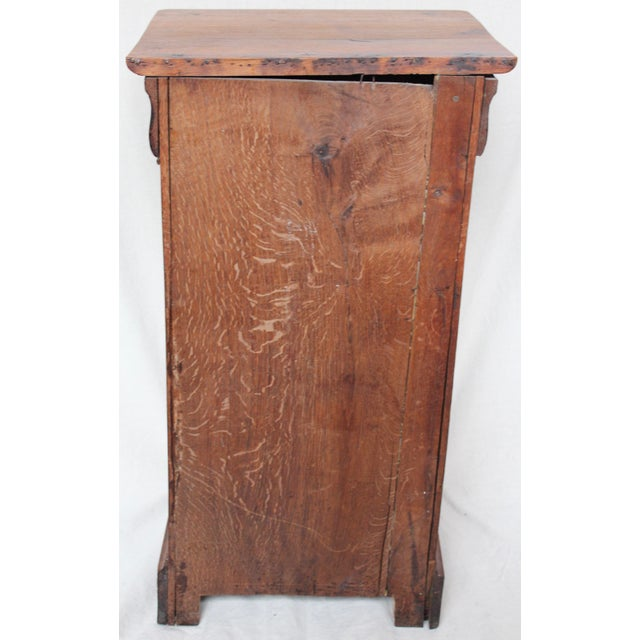 Brown Louis Phillipe 1840 Oak Commode For Sale - Image 8 of 8