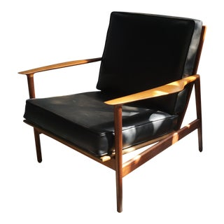 1960s Danish Modern Kofod Larsen for Selig Walnut Lounge Chair