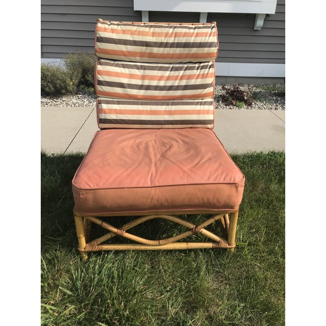 1960s Vintage Mid Century Ficks Reed Patio Outdoor Bentwood Bamboo Sofa, 3 Pieces For Sale - Image 5 of 11