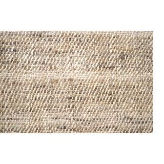 Silk Tweed Hand Spun Beige Fabric Fragment For Sale
