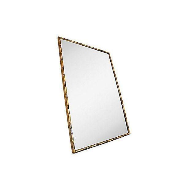 Vintage Gold Faux Bamboo Wall Mirror - Image 2 of 4
