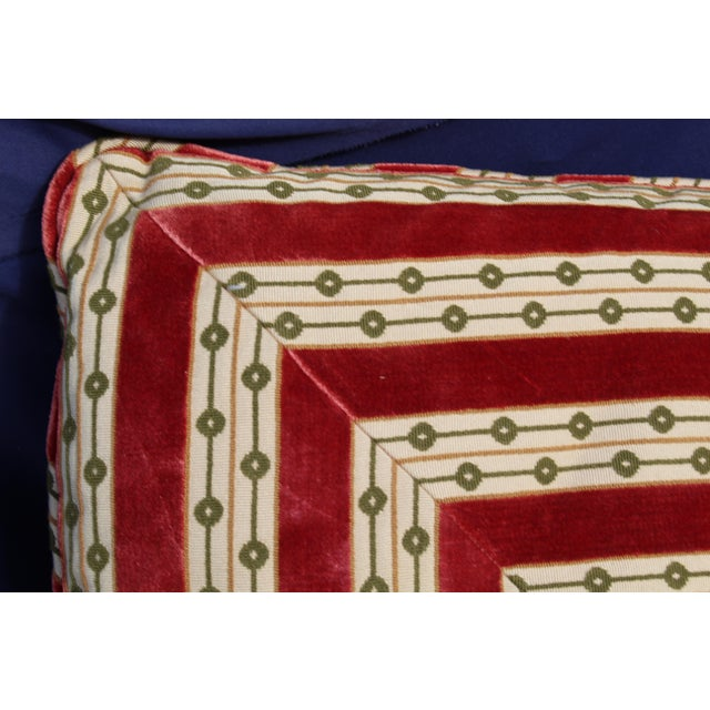 Mid C. Down Filled Possibly Silk Velvet, Unique Pillow For Sale - Image 4 of 10