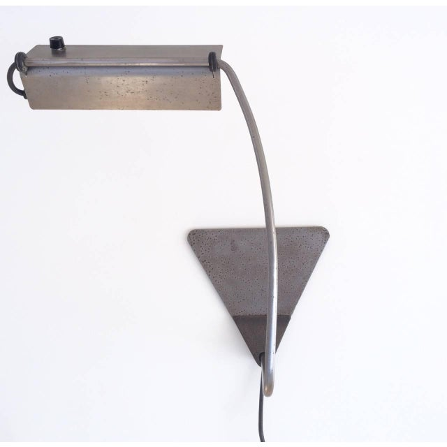 Metal Ron Rezek Raw Steel Desk Lamp For Sale - Image 7 of 10