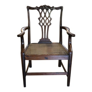 Rosewood Chippendale Style Armchair For Sale