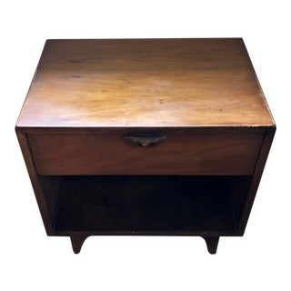 1960s Mid Century Modern Lane Furniture Walnut Nite Stand