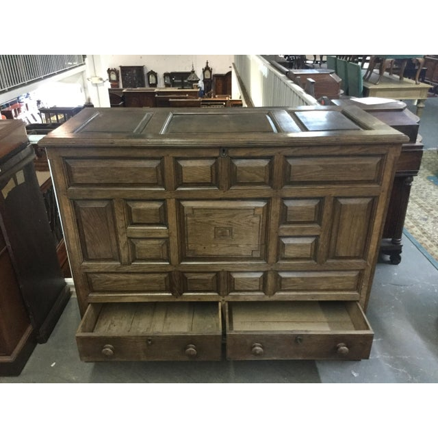 Brown Welsh Oak Mule Chest Circa 1820 For Sale - Image 8 of 9