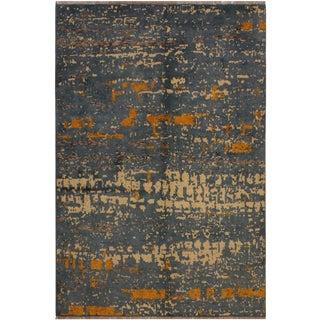 Southwestern Balouchi Andria Blue/Ivory Wool Rug - 4'11 X 6'5 For Sale