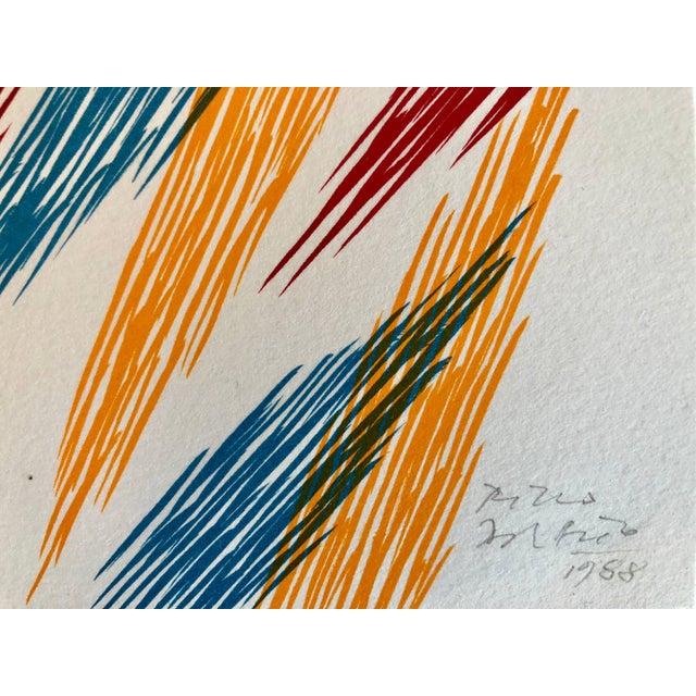 Lithograph Piero Dorazio Untitled 1988 1988 For Sale - Image 7 of 9