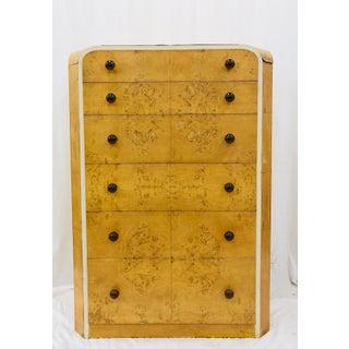 Antique Art Deco Burlwood Dresser Preview