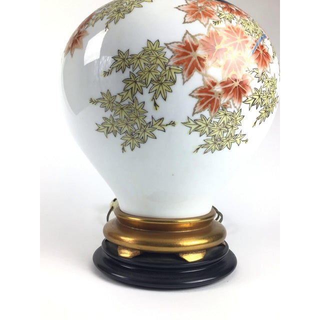 The Marbro Lamp Company Marbro Japanese Style Porcelain Lamp For Sale - Image 4 of 13