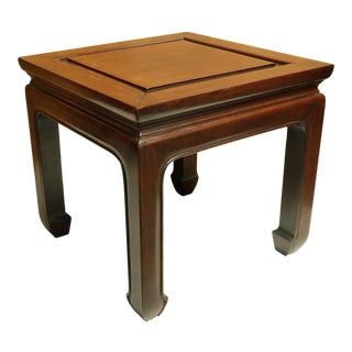 1960s Chinoiserie Rosewood Ming Style Side Table For Sale