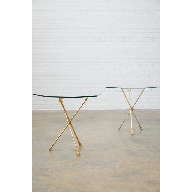 Pair of Maison Jansen Style Directoire Arrow Drink Tables For Sale - Image 12 of 13