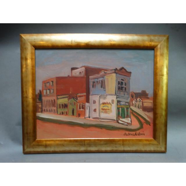 "1940 Anders Aldrin ""Island City"" Alameda Painting - Image 2 of 6"