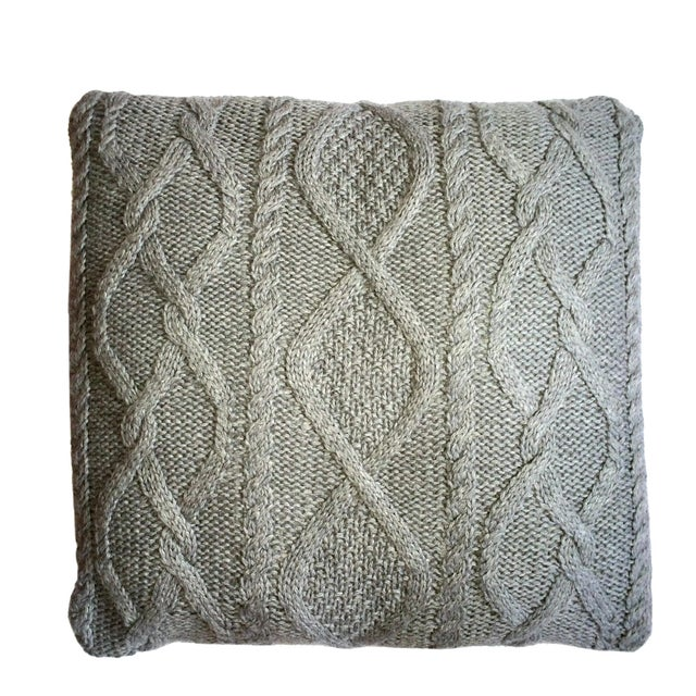 Mid-Century Modern Chalet Cable Pillow For Sale - Image 3 of 3