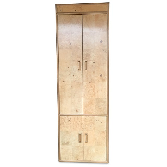 "Henredon ""Scene Two"" Burled Olive Wood Armoire - Image 1 of 5"