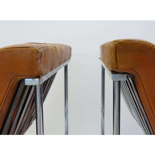 ICF Milano Pair of Two Armchairs by William Katavolos for Icf Milano, 1990 Italy For Sale - Image 4 of 8