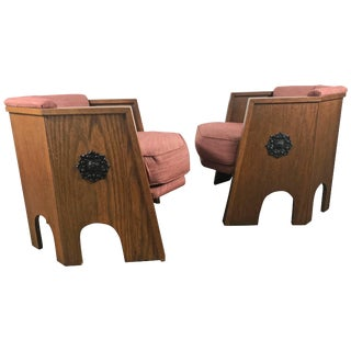 """Hexagonal """" Spanish"""" Chairs Designed by Adrian Pearsall - A Pair For Sale"""