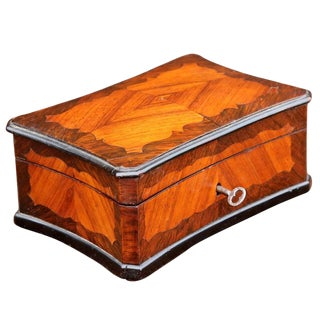 19th Century French Inlaid Rosewood Box For Sale