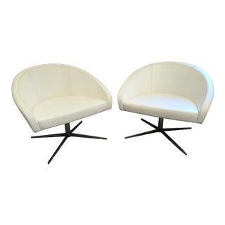 Haworth White Collaborate Chairs - A Pair For Sale