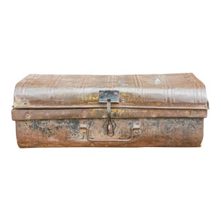 Rustic Metal Chest For Sale
