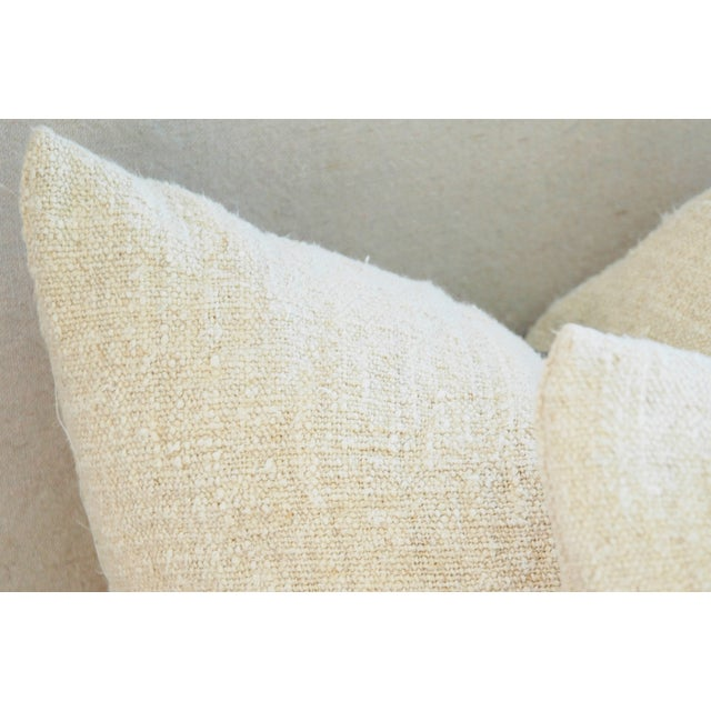 French Grain Sack Pillows - A Pair - Image 7 of 10