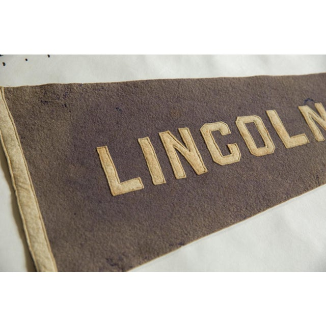 1910s Rare Antique Lincoln University Felt Flag Pennant For Sale - Image 5 of 6