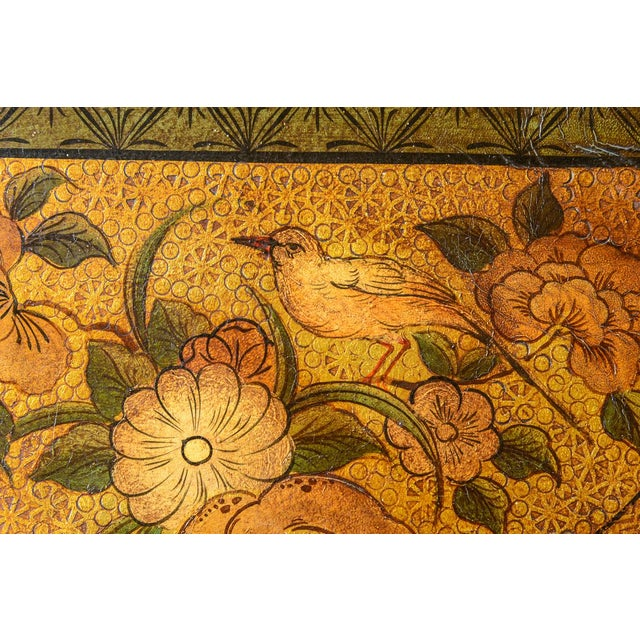 Late 19th Century 19th Century Painted Leather Screen For Sale - Image 5 of 6