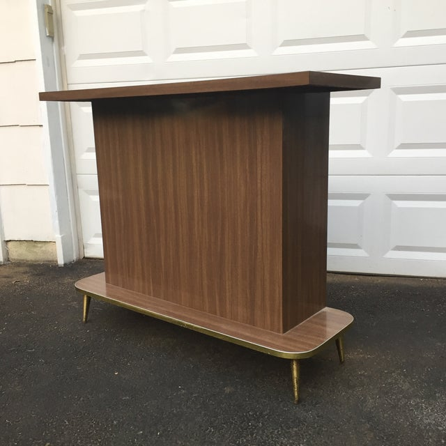 Mid-Century Modern Faux Wood Dry Bar - Image 2 of 11