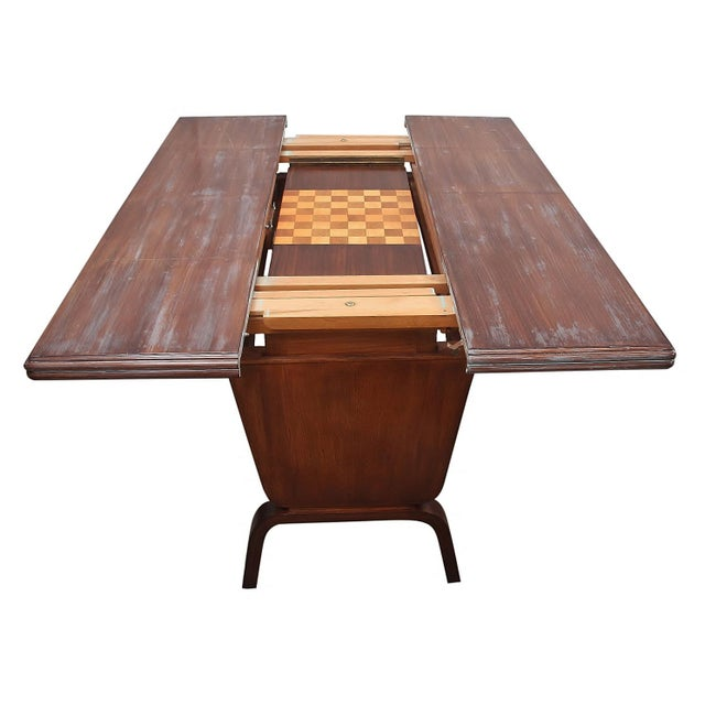 Danish Moderne Extending Game Table For Sale In Tampa - Image 6 of 7