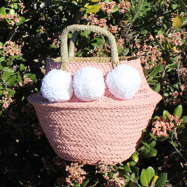 Pink Belly Basket & Pom-Poms - Image 2 of 5