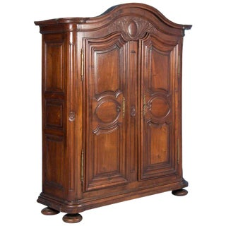 Antique 18th Century French Provincial Carved Walnut Armoire For Sale