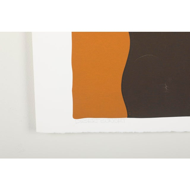 Original Silkscreen by C. Daniel Gelakoska - Desert Sunset, 1977 For Sale - Image 4 of 7