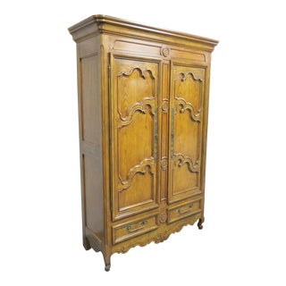Baker Louis XV Oak Armiore For Sale
