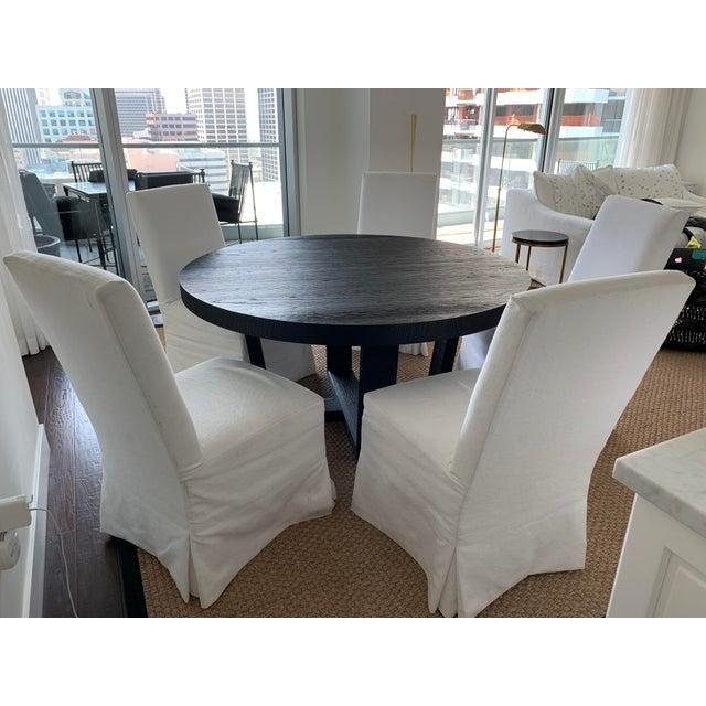 Transitional Restoration Hardware Dining Table Set   6 ...