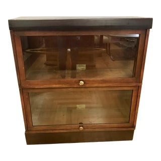 1920s Traditional Globe Wernicke Sectional Barrister Bookcase For Sale