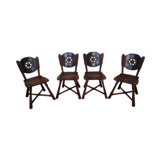 Romweber Viking Oak Vintage Dining Chairs - Set of 4