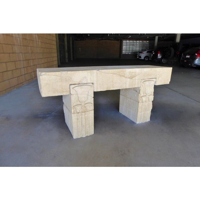 1980s Neo Egyptian Cast Stone Console Table Chairish
