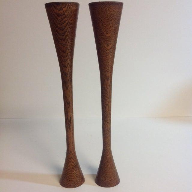 Danish Modern Walnut Candleholders - A Pair - Image 5 of 5