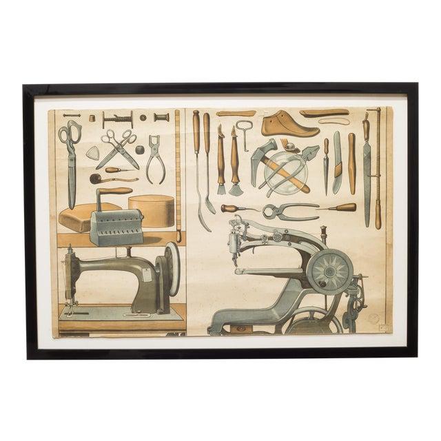 German Industrial Framed Elementary School Scrolls C.1930 For Sale
